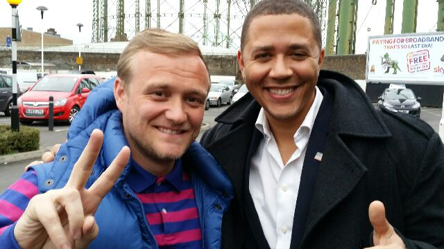 Our driver Terry with Barack Obama lookalike